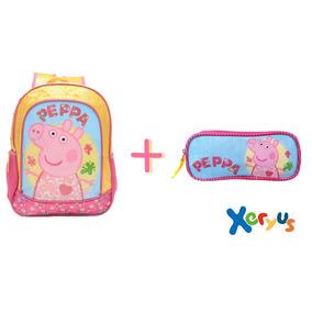 Kit Mochila Infantil Costas 16 E Estojo - Peppa Home