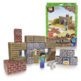Arte Papel Minecraft Construccion Shelter Geekend