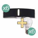 Aplique X6 Difusor Bidireccional Exterior Pared + Focos 10w
