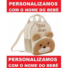 Mochila Infantil Personalizada Ursinho Menino - Bebê - M