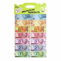 700 Notas Dinheirinho Mini Infantil Educativo 10 Cartelas