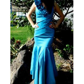 Vestido De Graduación Sirena Color Turquesa