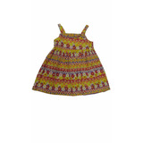 Vestido Infantil Alphabeto Amarelo Floral
