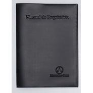 Capa Porta Manual Proprietário P Mercedes Benz Couro Eco