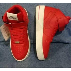 Zapatillas Nike Force Rojas Botitas Hombre Oferta
