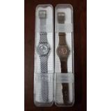 Relojes Swach Originales Colores Dorado Y Plata (precio C/u)