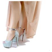 Sandália Salto 14cm Com Mega Pata Bellatotti Diamante