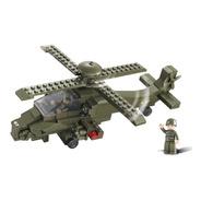 Blocos De Montar Helicoptero Militar 199 Pcs Sluban
