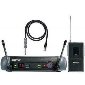 Transmissor Shure Pgx14br P/ Instrumento Sem Fio Com Maleta
