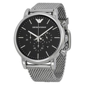 Reloj Emporio Armani Hombre Modelo Ar1808 Plata Negro