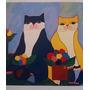 Aldemir Martins - Serigrafias - Família De Gato Color
