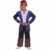 Disfraz Capitan Jake Y Los Piratas Talle 2 6/8 Años Disney