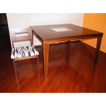 Mesa Com Tampo De Vidro Para Sala De Jantar Com 8 Cadeiras