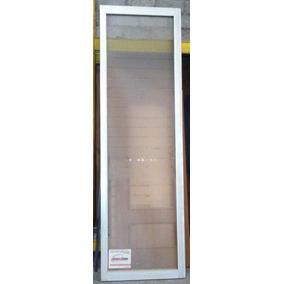 Puerta Alumino Perfil Pesado, Vidrio Transparente