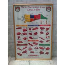 Cuadro Poster Enmarcado C/cristal De Cortes Mexicanos Tif