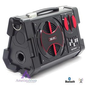 Caixa De Som Multiuso 50w Rms Bluetooth Fm Usb Equalizador