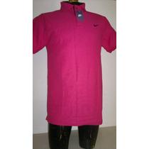 Camisa Playera Tipo Polo, Color Rosa Fucsia Marca Nike