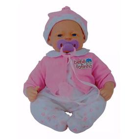 Boneca Bebe Fofucha Estilo Bebe Reborn Fala Chora Dorme
