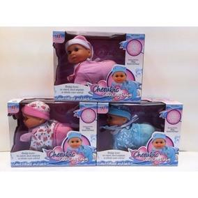 Muñeca Mini Bebe Con Sonido Gatea Y Rie Sabana Grande 16cmm
