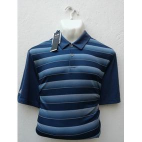 Playera De Golf adidas Tipo Polo Marino A Rayas Para Hombre 36817d36d1218