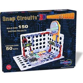 Snap Circuits 3d Ilumina¿¿o Eletr¿nica Descoberta Kit - N