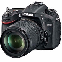 Câmera Nikon Dslr D7100 + Lente 18-105mm Full Hd 24.1 Mp