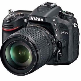 Câmera Nikon Dslr D7100 + Lente 18-105mm Full Hd 24.1 Mp