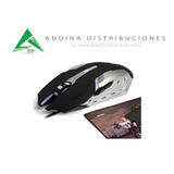 Mouse Gamer + Mouse Pad Gamer Wesdar