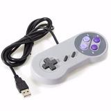 Controle Usb Retrô Snes Super Nintendo Manete Usb