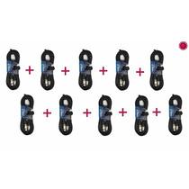 Pack 10 Cables De Micrófono De 3 Mts. Fichas Canon Cablelab