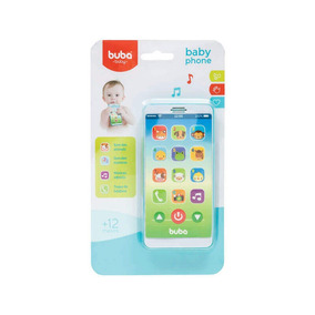 Celular Infantil C/ Sons D Bichos E Melodias Baby Phone Azul