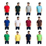 5 Camisetas Pv Malha Fria Coloridas Atacado P-m-g-gg