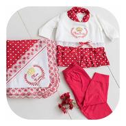 Saída De Maternidade Roupa Bebe Menina Promoção Luxo