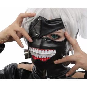 Máscara Tokyo Ghoul Kaneki Ken Para Cosplay - Pronta Entrega