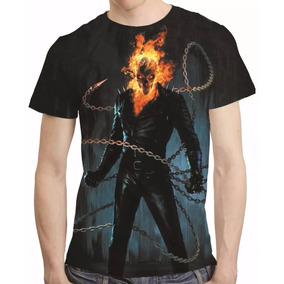 Camisa Motoqueiro Fantasma Camiseta Estampa Total Mod 2