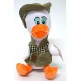 Boneco Pelúcia Pato Donald Safari Mickey Musical Antialergic