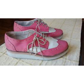 Zapatos De Dama Tipo Mocasin Con Cordones