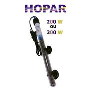 Termostato Com Aquecedor Hopar H-386 (200w Ou 300w) Aquário