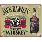 Anuncio Poster Lamina Metalico Jack Daniels Licor 0137