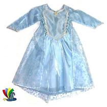 Disfraz Vestido Elsa Frozen De Lujo Modelo Disney Talla 2