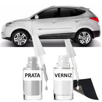 Tinta Tira Risco Automotivo Hyundai Ix35 Prata Cor Original*