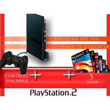 Playstation 2 - Completo +1 Controles+5 Jogos+barato