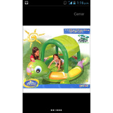Piscina Inflable Forma Tortuga Con Tapa Sol