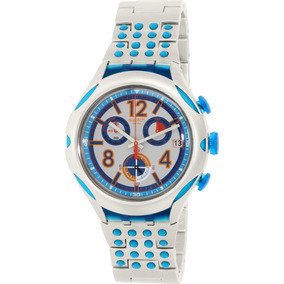Reloj Swatch Para Hombre Yys4007ag Plateado Aluminio Suizo
