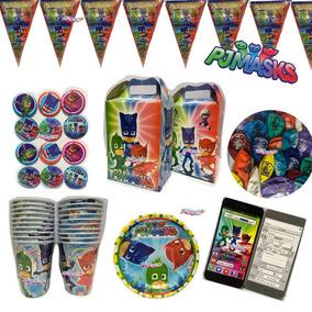 Pj Mask Artículos Fiesta Paquete 20 Niños Fiesta Infantil