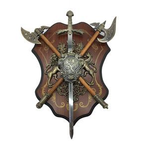 Escudo Medieval Espada Metal H3390