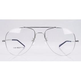 2 X Armações Aviador P/ Óculos De Grau Em Titânio Memory