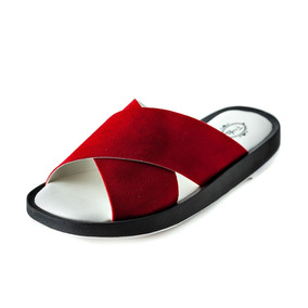 Rasteira Slide Frida Shoes Camurça Jambo Frete Gratis