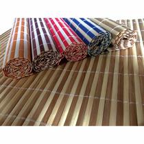 8 Peças Jogo Americano Esteira Bambu Cores Sortidas45x30(fp)