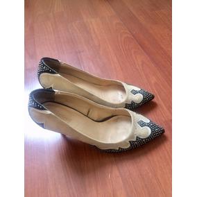 Zapato De Zara Gamuza Y Taco